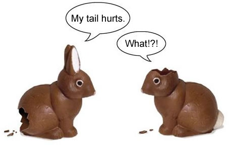 easter bunnies talking